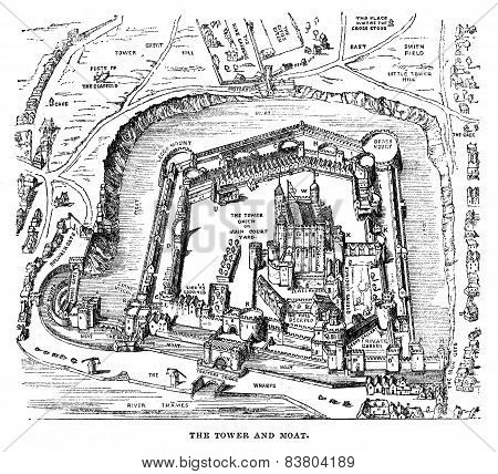 Tower Of London Engraving