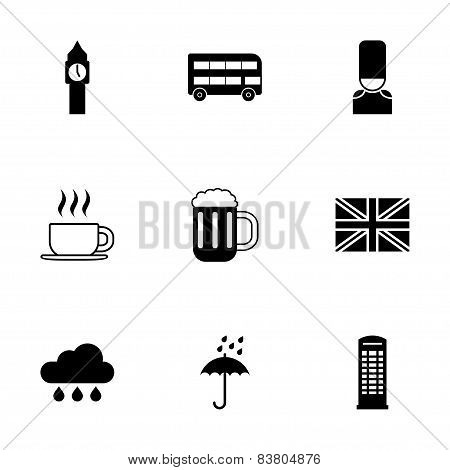 Vector london icon set