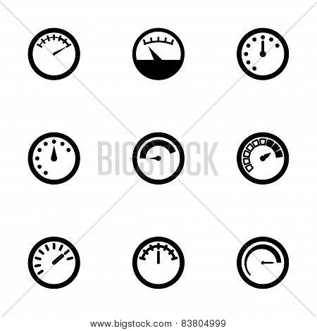 Vector meter icon set