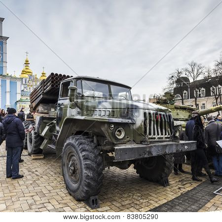 February 23, 2015, Kiev, Ukraine, Exhibition Of Russian Weapons In Kiev