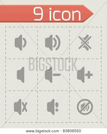 Vector speaker icon set