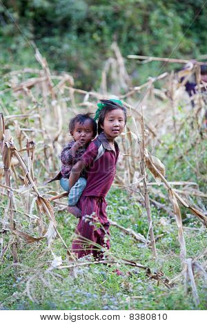 Brotger And Sister From Gorkha, Nepal