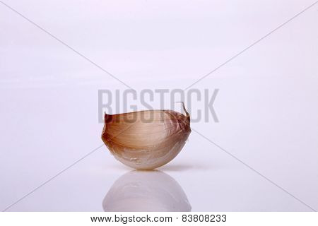 Garlic Clove On White