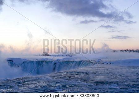 Winter Dawn at Horseshoe Falls