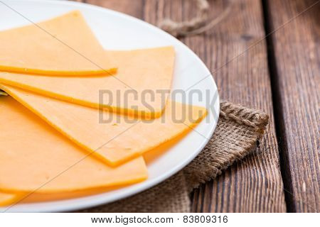 Portion Of Cheddar Slices