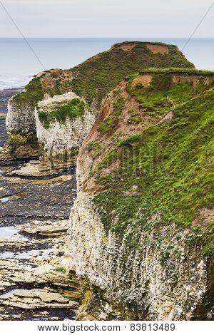 Rocky Cliffs On Coastline Flamborough Head