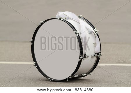 Bass drum on a grey background