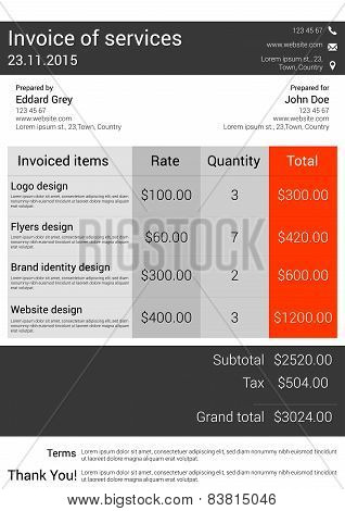Customizable Invoice  template design