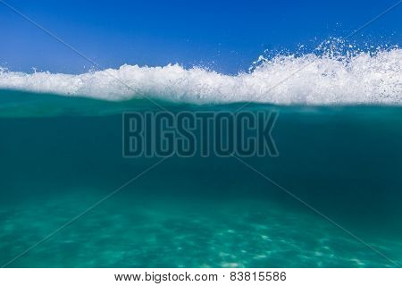 Underwater Sea With Waterline