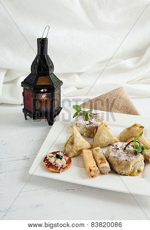 Typical Food And Fresh Moroccan