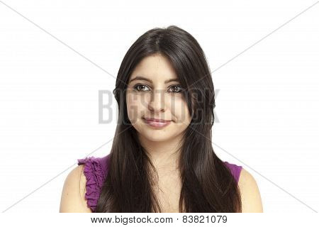 Beautiful Girl With Purple Tank