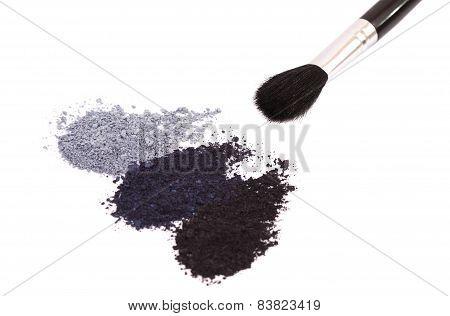 Powder Eyeshadow Makeup And Brush