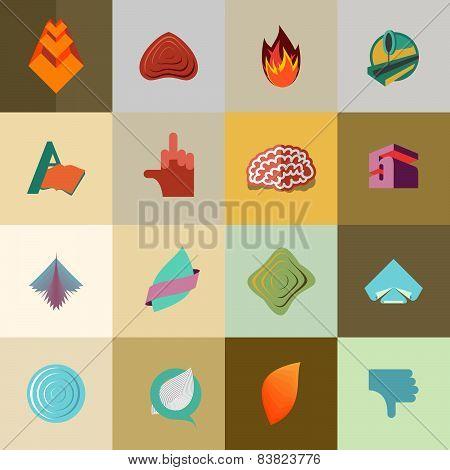 set of icons, logos