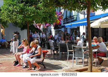 Pavement cafe, Marbella.