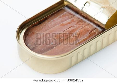 Can of tinned anchovies