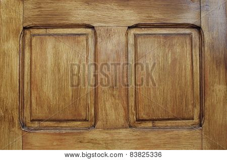 Wood Texture On A Door