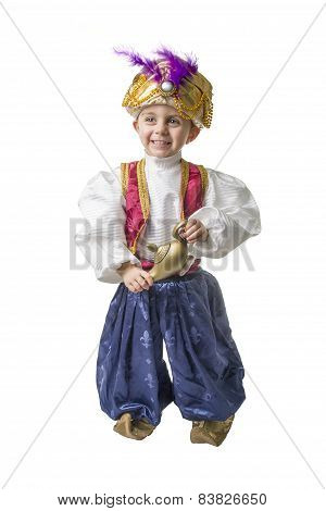 Sultan Child Smilling Isolated