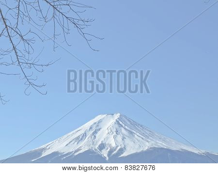 Mount Fuji with snow-covered, Yamanashi, Japan