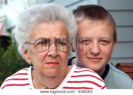 Grandmother Grandson Portrait