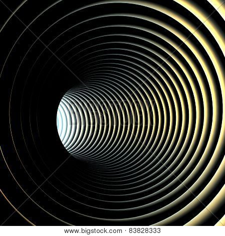 Abstract background Illustration of 3d tunnel with rings