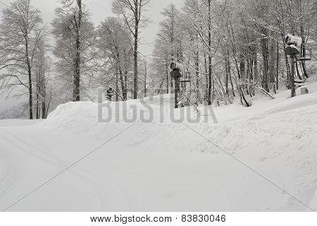 Snow gun in Rosa Khutor Alpine Resort