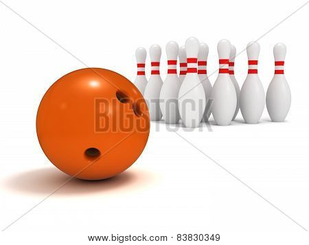 Ball And Pin Bowling