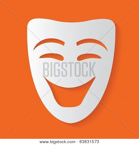 Smile mask,clean vector