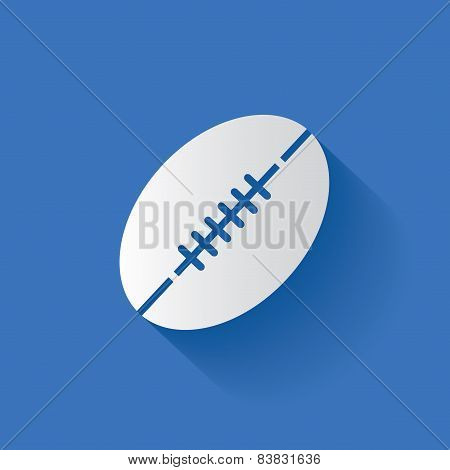 Rugby symbol,clean vector