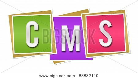 CMS - Content Management System Colorful Blocks