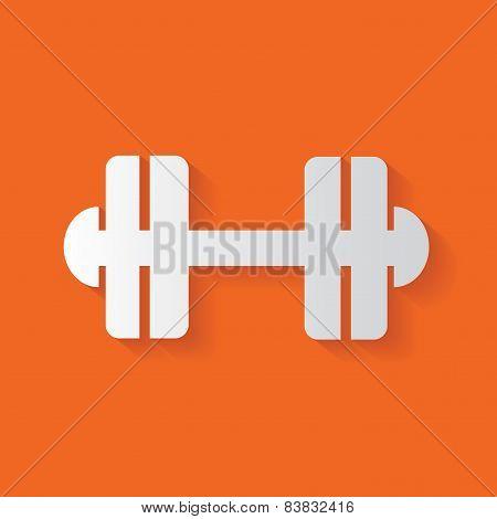 Fitness symbol,clean vector