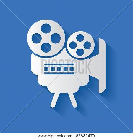 Video symbol,vector