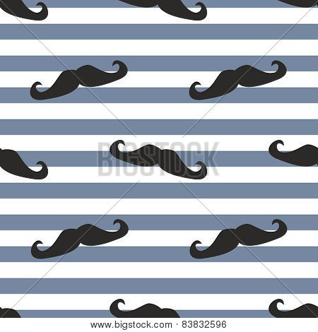 Seamless mustache vector background