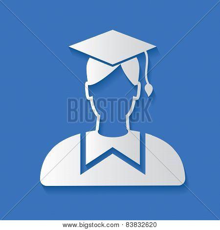 Student symbol,clean vector