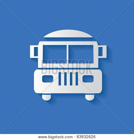School bus symbol,clean vector