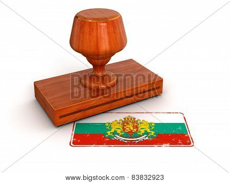 Rubber Stamp Bulgarian flag (clipping path included)