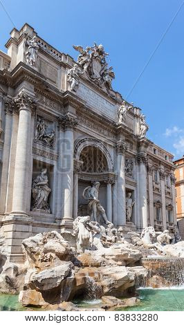 Trevi Fountain In Rome