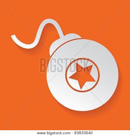 Bomb symbol,vector