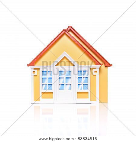 Model house isolated on white
