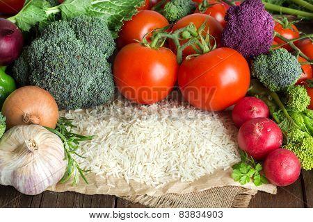 Basmati Rice And Vegetables