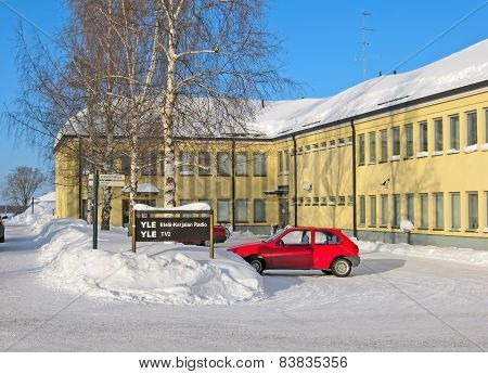 Lappeenranta. Finland. Yle building on Kristinankatu Street