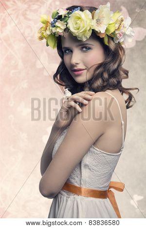 Romantic Brunette Woman