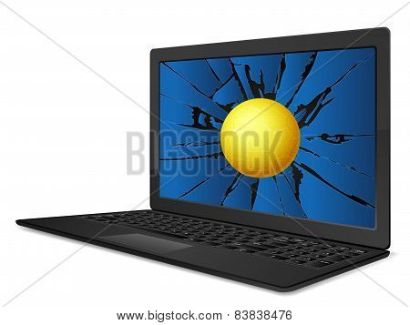 Cracked Laptop Handball