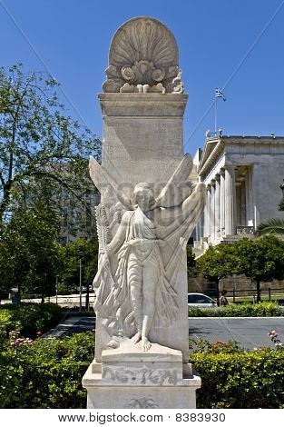 Statue of Niki at the Academy of Athens in Greece