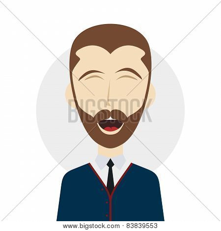 guy laughing illustration