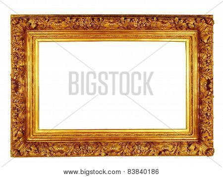 Isolated Gold Picture Frame.