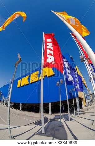 Ikea Flags At The Ikea Samara Store