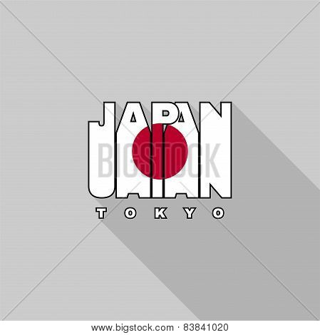 Japan Flag Typography, T-shirt Graphics
