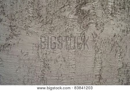 Gray painted plaster facade wall