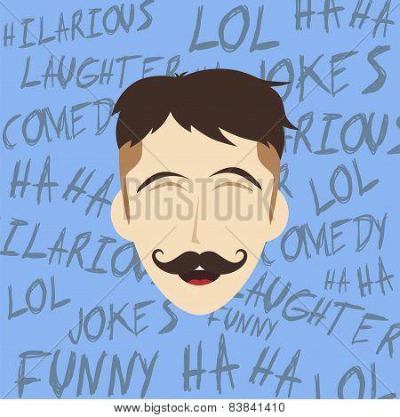 laughing guy cartoon