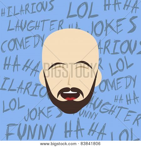 laughing guy cartoon